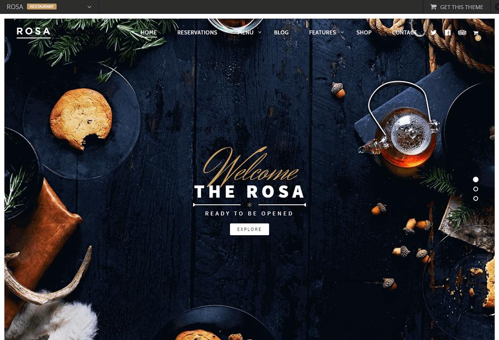Le thème Rosa
